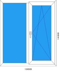 2х створчатое окно